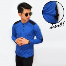 Shoulder Elbow Patch 4 Buttons Blue