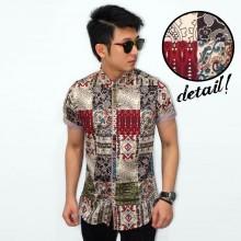 Kemeja Short Batik Motif Perca