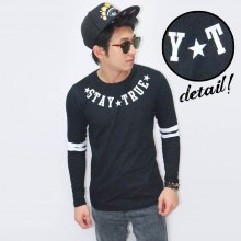 Long Sleeve Tee Stay True Black