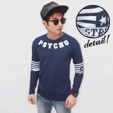 Long Sleeve Tee Strong Psycho Navy
