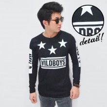 Long Sleeve Tee Wild Boys Black