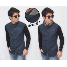 Shanghai Hooded Shirt Navy