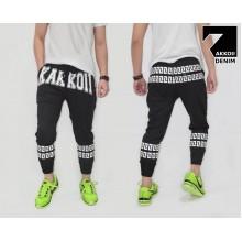 Sweatpants Double Webbing Stripe Kakkoii Black