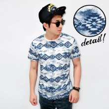 Webbing Tribal Faded Print Tee