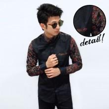 Kemeja Sleeve Motif Dark Batik