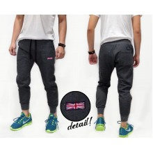 Sweatpants Plain With England Flag Patch Grey