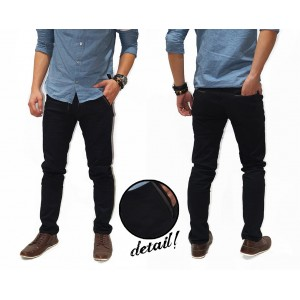 Celana Panjang Chino Basic With List Kakkoii Black
