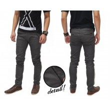 Celana Panjang Chino Basic With List Kakkoii Grey