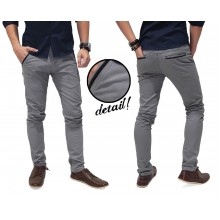 Celana Panjang Chino Basic With List Kakkoii Silver