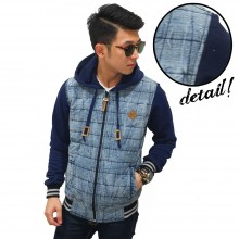 Jacket Denim Washing Dacron Stripe