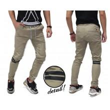 Jogger Pants Chino Double Stripe Kakkoii Khaki