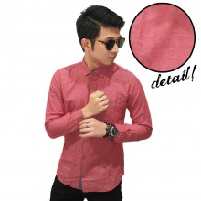 Kemeja Basic Oxford Pink Peach