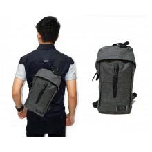 Shoulder Bag Canvas Polyester Grey