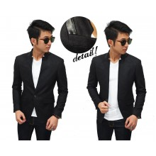 Blazer Casual Organic Wool Black