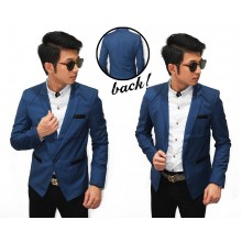 Blazer Semi Formal Pocket With List Navy