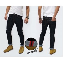 Celana Panjang Jeans With List Rigid Indigo