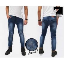 Jeans Pants Ripped Bio Stone Blue Kakkoii