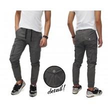 Jogger Pants Cargo Chino Kakkoii Grey