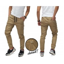 Jogger Pants Cargo Chino Kakkoii Light Brown