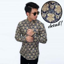 Kemeja Batik Modern Printing Gold