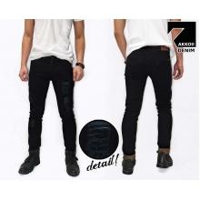 Jeans Pants Ripped Skinny Rockstar Kakkoii Black