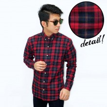 Kemeja Flannel Wallace Modern Tartan Red