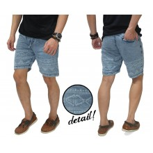 Celana Pendek Denim Half Tribal Blue