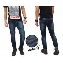 Jeans Ripped Destroyed With Patch Kakkoii Indigo
