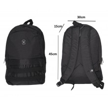 Tas Backpack Pocket Stripe Black