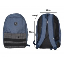 Tas Backpack Pocket Stripe Navy