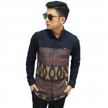 Kemeja Under Modern Batik Songket Black