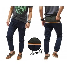 Jogger Pants Chino Two Tone Navy