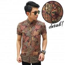 Kemeja Pendek Batik Classic Subak Motif