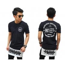 Longline London Paris T-Shirt