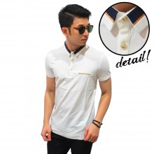 Polo Premium With Gold Ribbon White