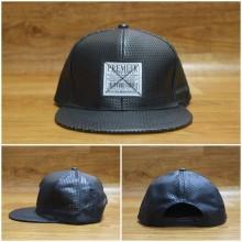 Topi Snapback Leather Net Black