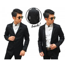 Formal Blazer Three Button Black