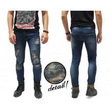 Indigo Jeans With Extreme Rips Kakkoii