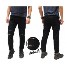 Jeans Ripped Extreme Distressed Kakkoii Black