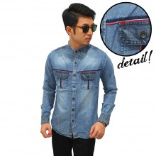 Kemeja Denim Shanghai Double Pocket