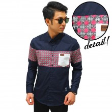 Kemeja Middle Block Octagon Star Navy