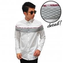 Kemeja Middle Block Quilted White