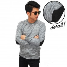 Noise Stripe Elbow Patch Grey