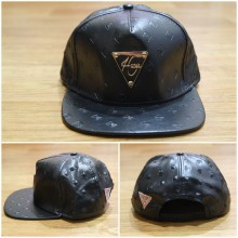 Topi Snapback Hater Leather Emboss