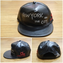 Topi Snapback Leather New York City