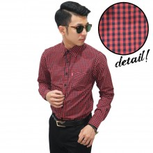 Kemeja Formal Gingham Check Bata