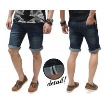 Celana Pendek Jeans Whisker Wash Indigo