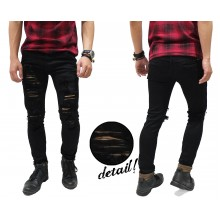 Jeans Ripped Extreme Destroyed Black