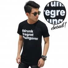 Kaos Drunk Regret Hungover Black