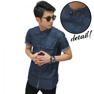 Kemeja Pendek Shanghai Chambray Simple